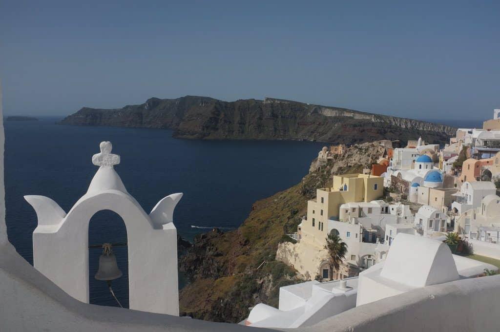 visiter santorin vue mer