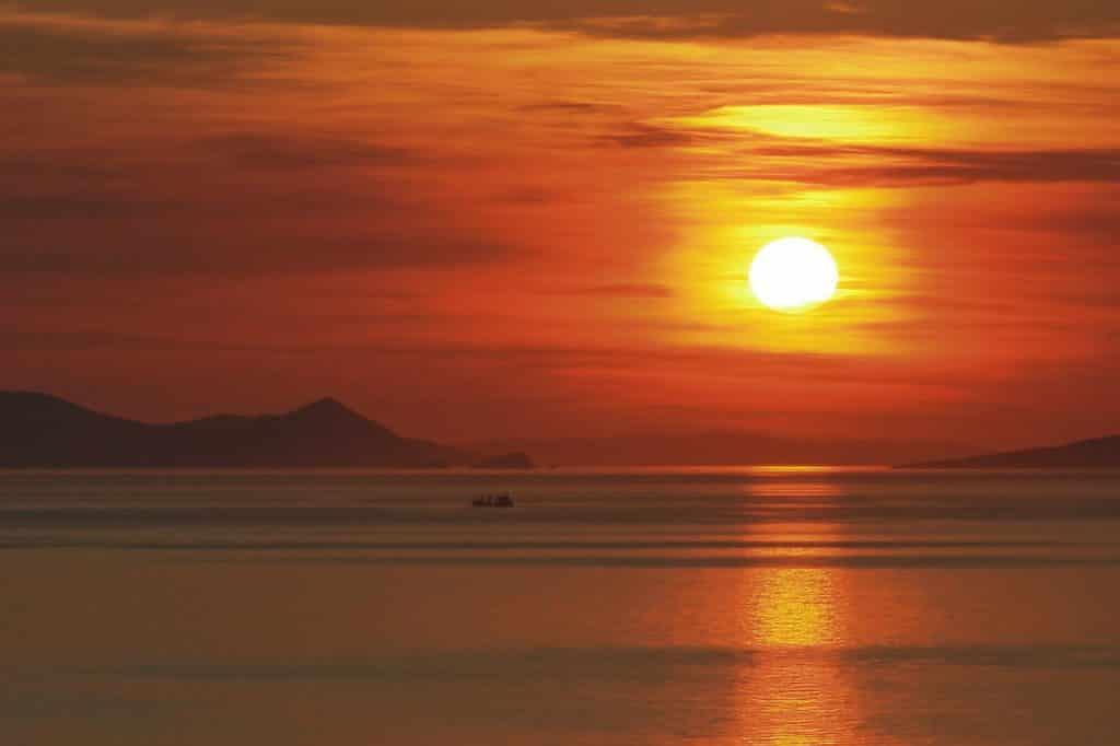 santorin coucher soleil