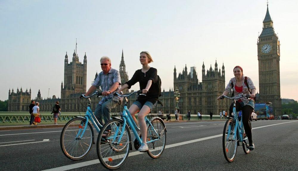 visite Londres à vélo