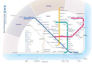 voyage lisbonne carte metro