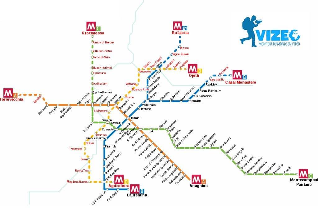 plan metro rome vizeo