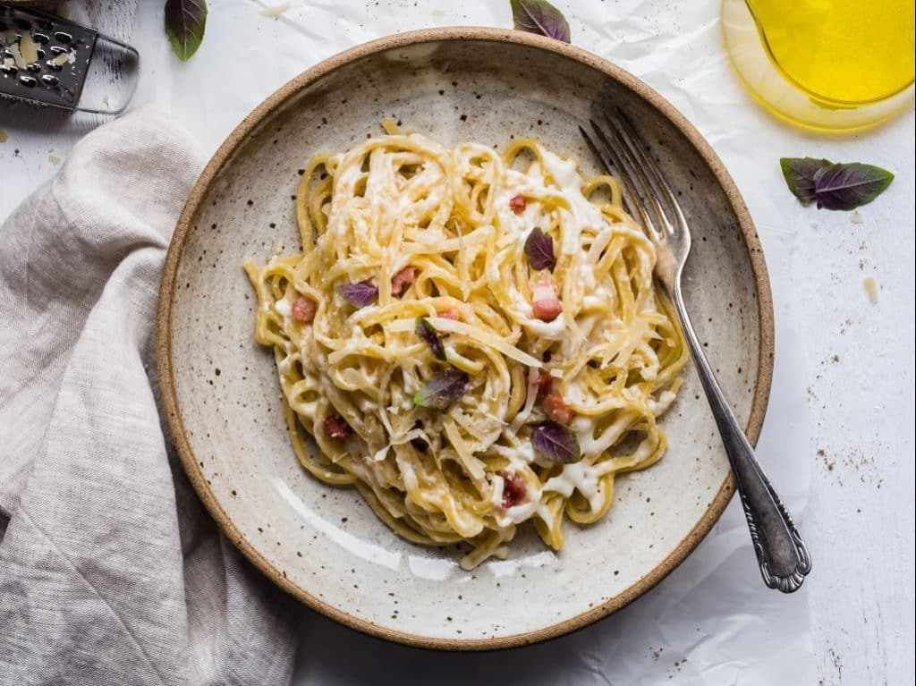 spaghetti carbonara ou manger a rome