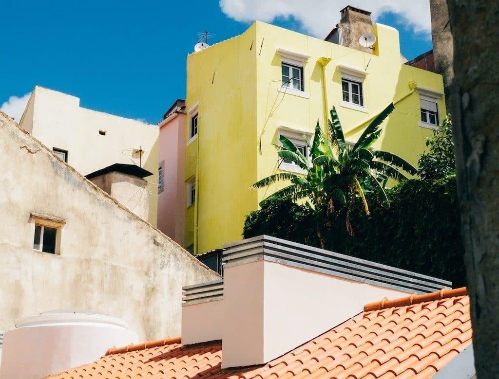 lisbonne maisons colorees