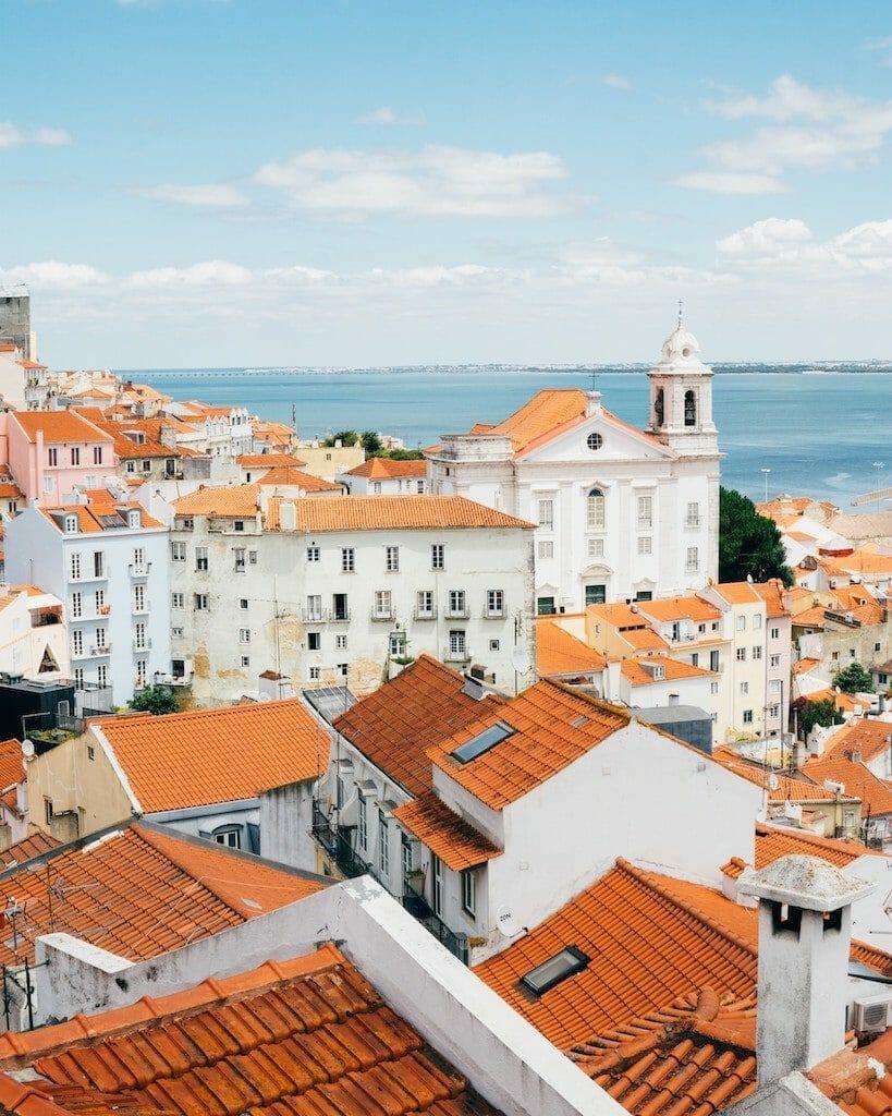 lisbonne panorama toits maisons