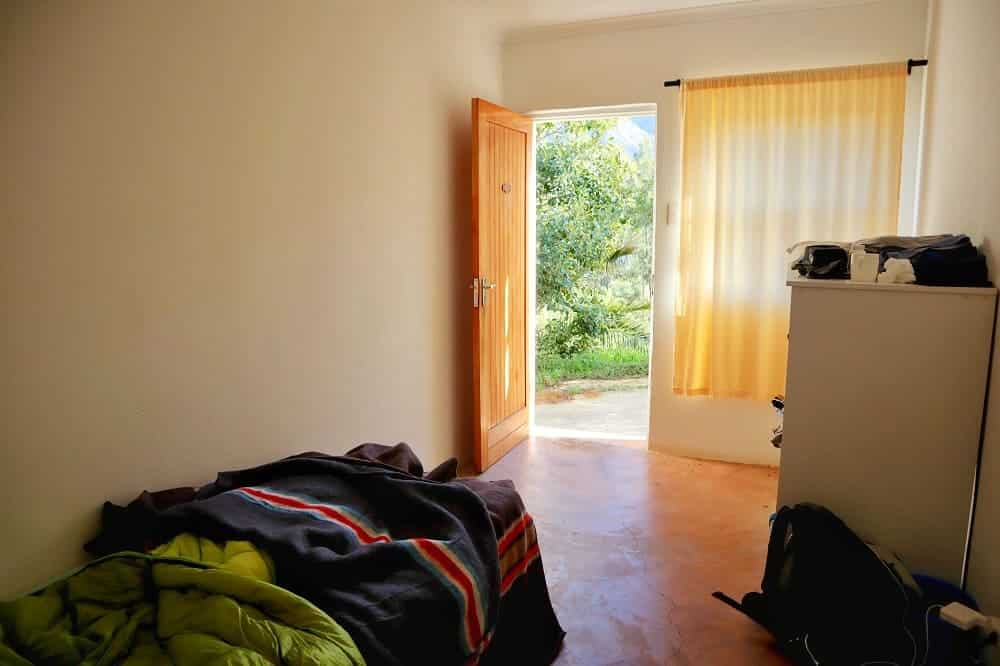 Ma chambre dans le centre Vipassana