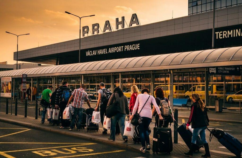 itinéraire pour visiter prague aeroport