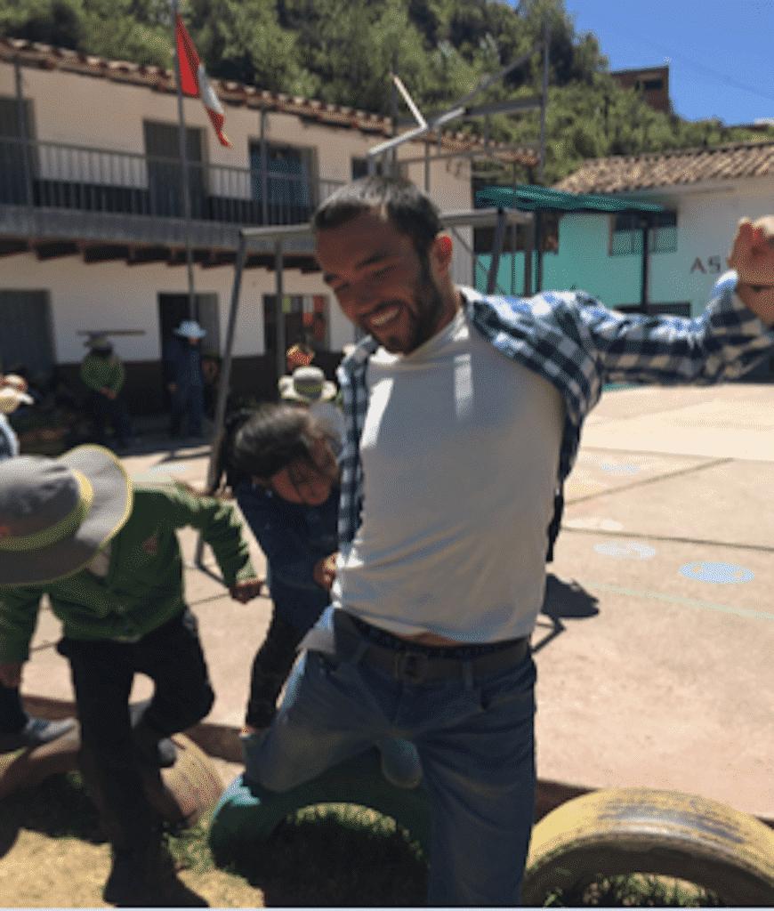 jeux avec enfants benevolat afrique