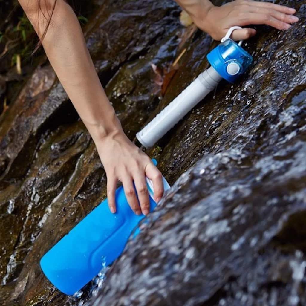 gourde filtrante eau riviere