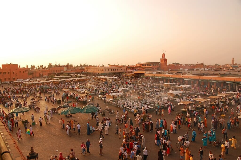 place jemaa el fna maroc, Visit Marrakech, Visit Marrakech in 4 days, the 17 activities not to be missed